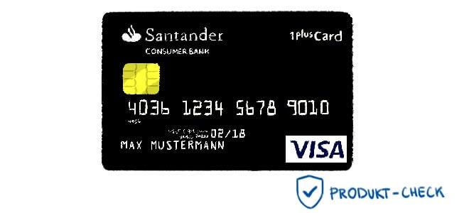 1plus visa card der santander bank im produkt check. Black Bedroom Furniture Sets. Home Design Ideas