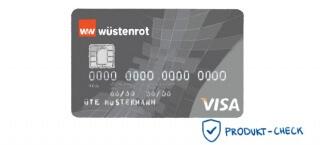 Die Visa-Classic Karte gehört zum Girokonto der Wüstenrot direct