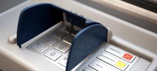 Geldautomat zum abheben von Bargeld