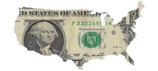Der US-Dollar als Karte