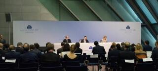 EZB - Mario Draghi bei der Pressekonferenz im Juni 2015