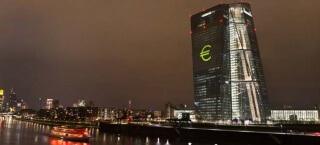 Der EZB Turm zur Luminale