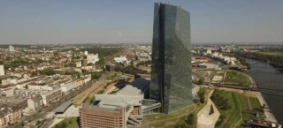 Der EZB Tower in Frankfurt am Main