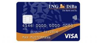 Mit der Kreditkarte der ING-DiBa kontaktlos bezahlen