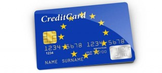 Kreditkarte mit Euro-Flagge