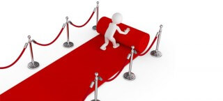 Der Anbieter rollt den roten Teppich aus