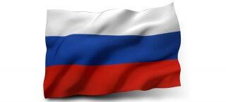 Die russische Flagge