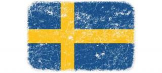 Das Bild zeigt die schwedische Flagge